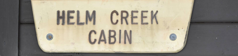 Helm Creek Sign