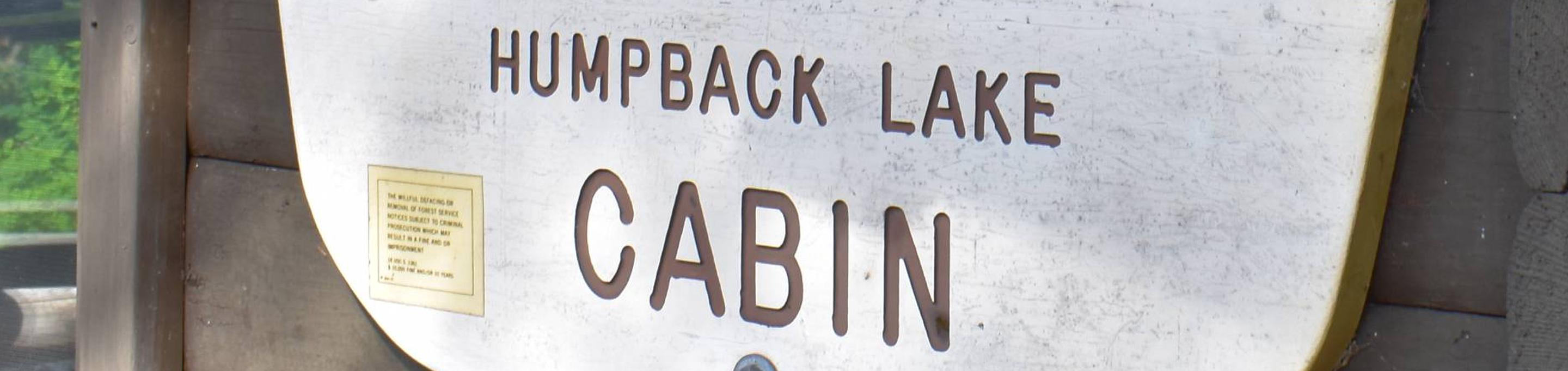 Humpback Lake Sign