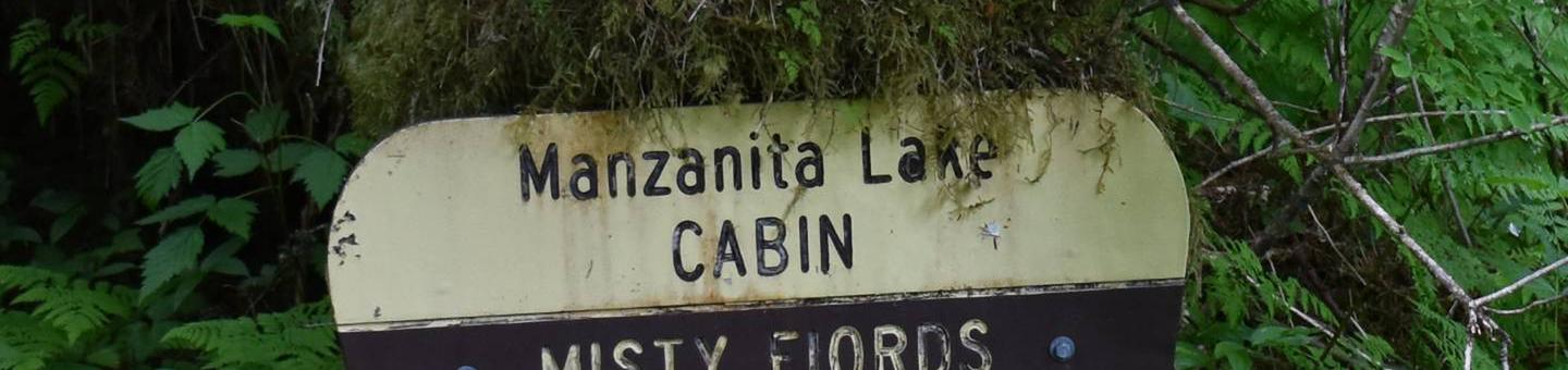 Manzanita Lake Cabin SIgnManzanita Lake Cabin Sign