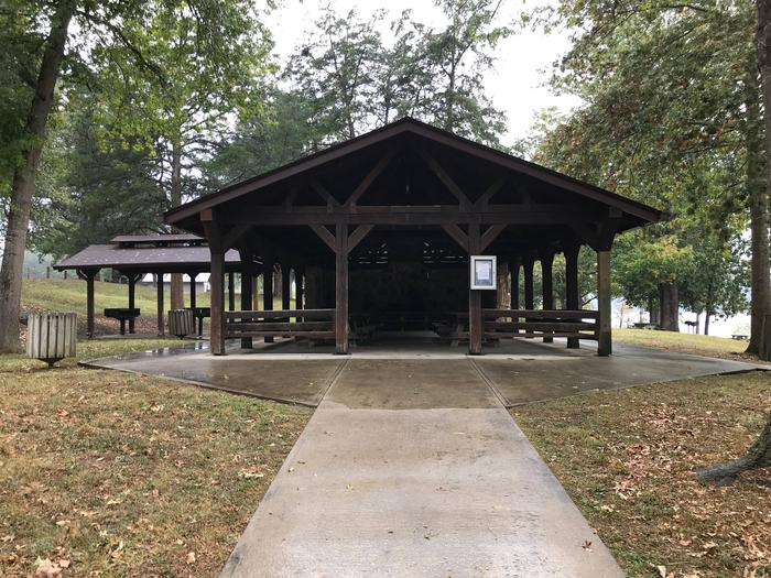 OBEY RIVER PARK LARGE SHELTER (L1 ) FRONT VIEWOBEY RIVER PARK LARGE SHELTER (L1)