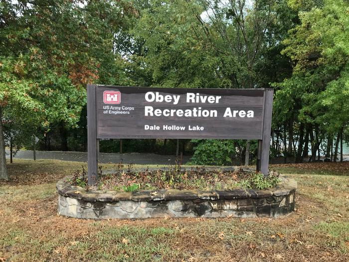 OBEY RIVER PARK ENTRY SIGN