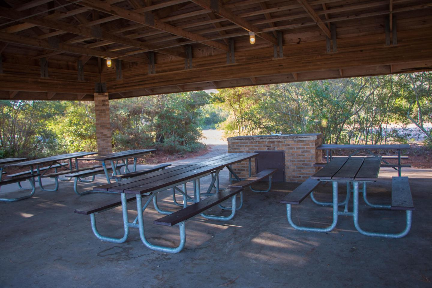 PavilionThe youth campground features a large picnic pavilion, perfect for gathering the whole group beneath for meals or activities.