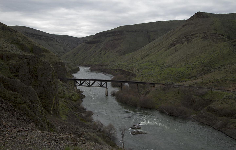Train Trestle over the Deschutes Wild and Scenic River.