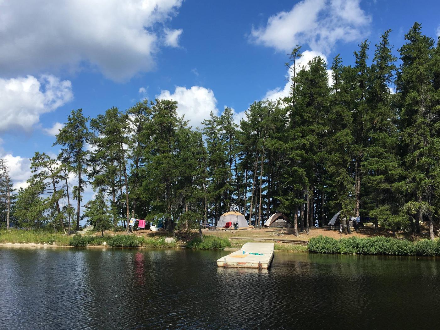 Campsite on Rainy LakeVirgin Is South Campsite