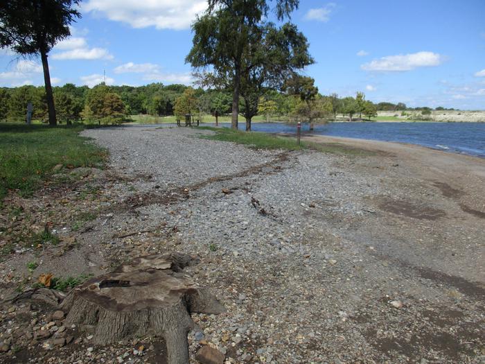 Site 44 - Taylor FerrySite 44 has a gravel drive with a level concrete parking pad.