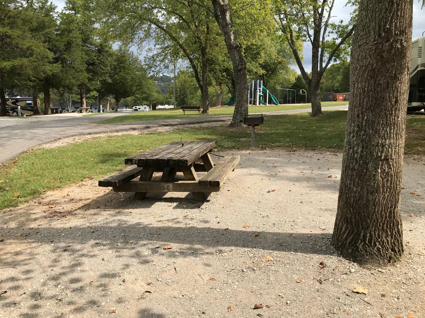 OBEY RIVER PARK SITE # 95 TABLE AND TREE IN PADOBEY RIVER PARK SITE # 95