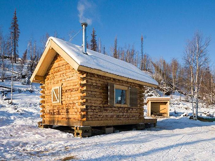Log cabin and woodshedWolf Run Cabin