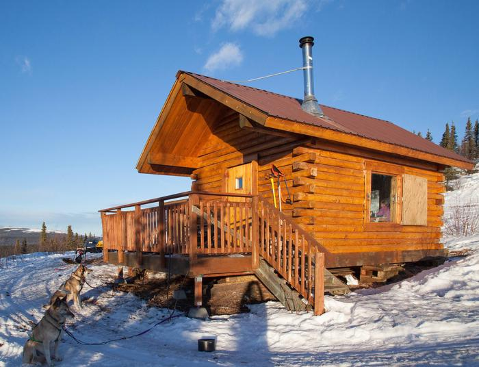Log cabin on a snowy hillsideEleazar's Cabin