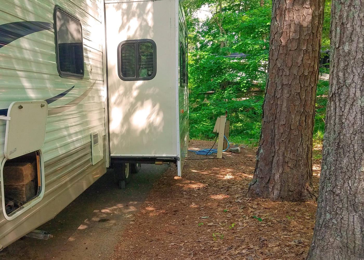 Utilities-side clearance.Victoria Campground, campsite 17.