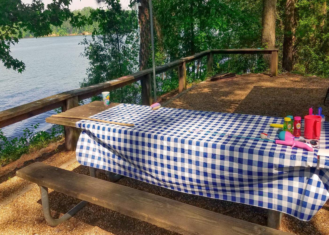 Campsite view.Victoria Campground, campsite 19.