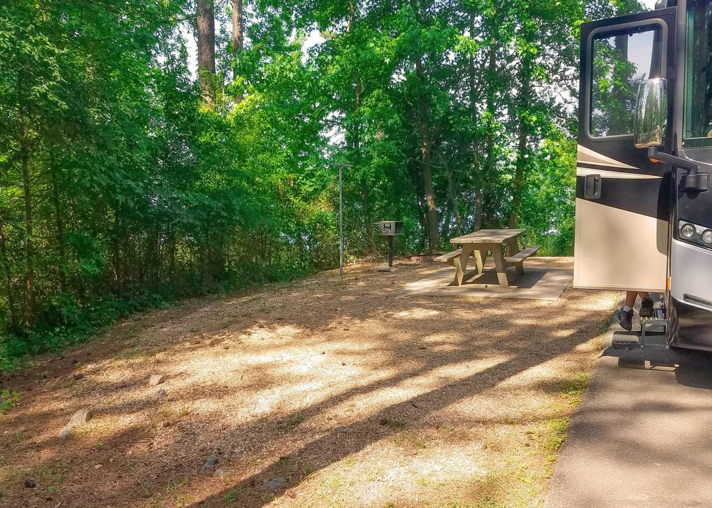 Campsite view.Victoria Campground, campsite 24.