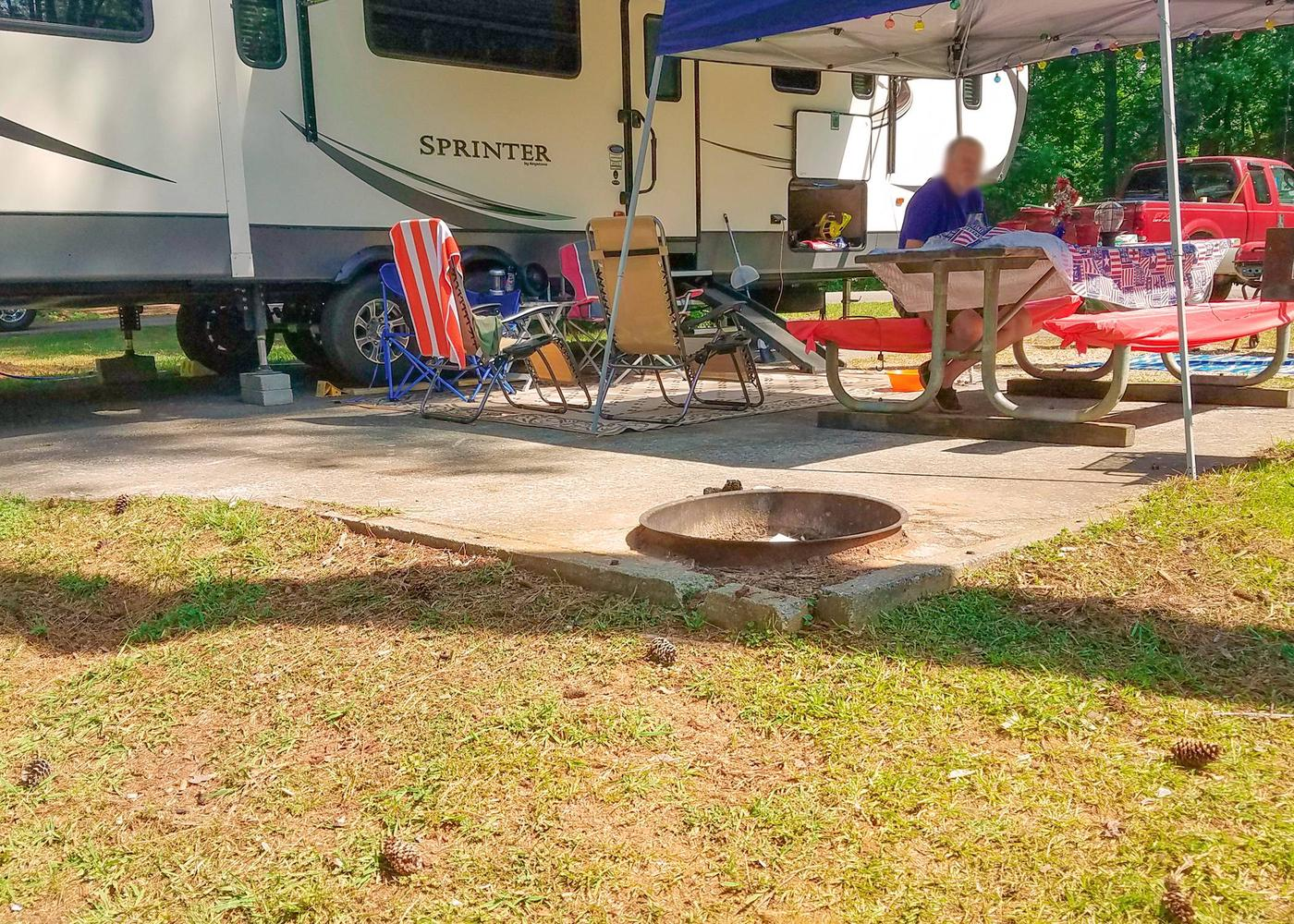 Campsite view.Victoria Campground, campsite 29.