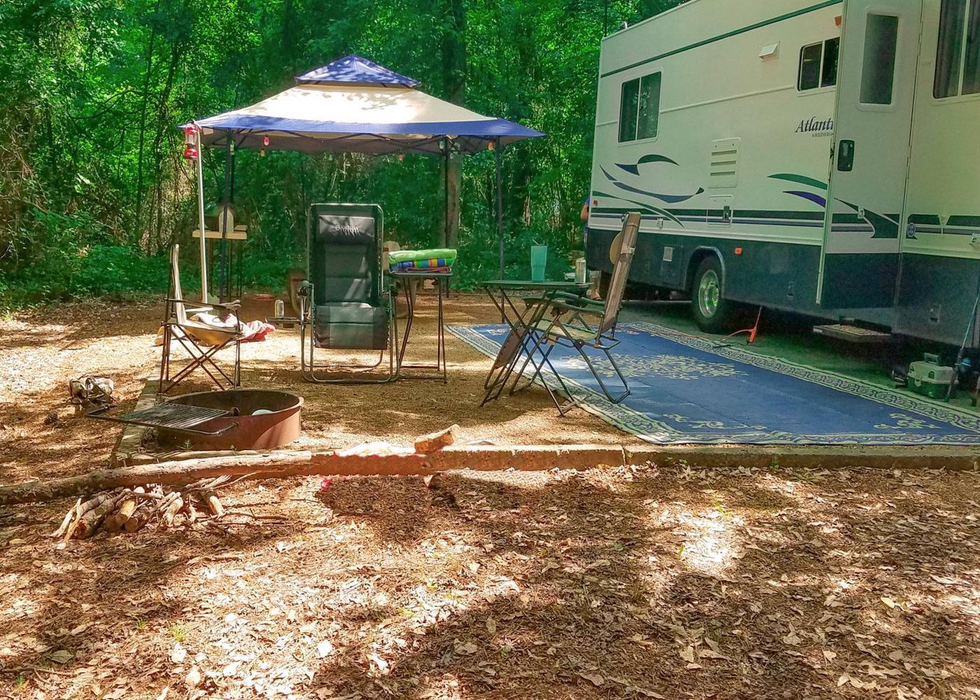 Campsite view.Victoria Campground, campsite 30.
