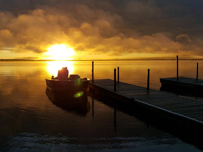 lakeside at sunsetA lakeside sunset