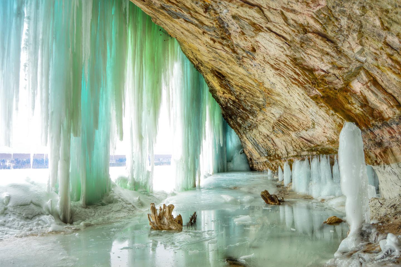 Hiawatha National Forest Ice falls