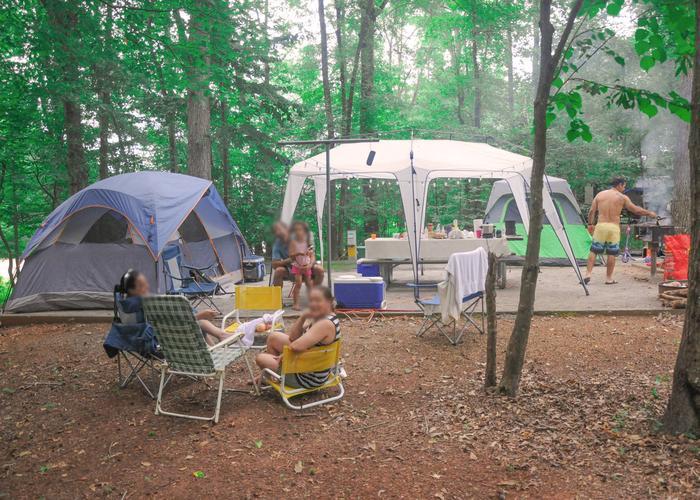 Campsite view.Victoria Campground, campsite 36.