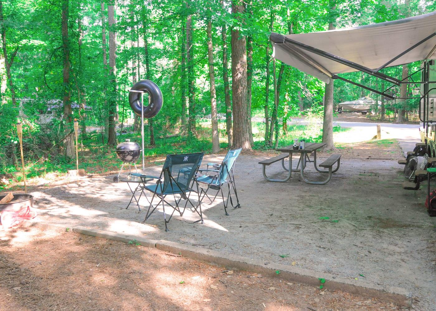 Campsite view.Victoria Campground, campsite 38.