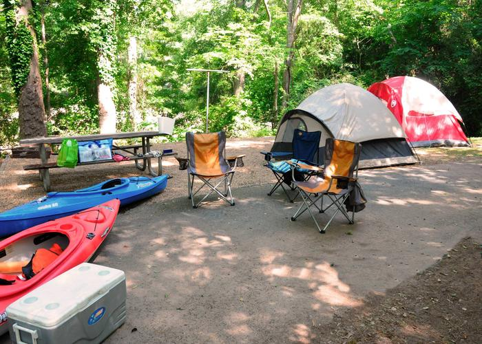 Campsite view.Victoria Campground, campsite 48.
