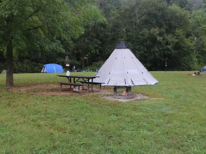 Steel Creek Camp Site #11Tee Pee Tent on Site 11