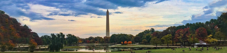 Washington MonumentWashington Monument with colored sky