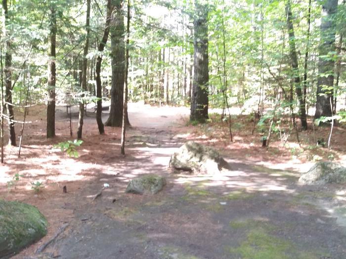 A walk in tent site