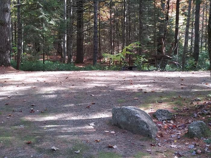 Large wooded tent/ trailer site 20ft. Depth
