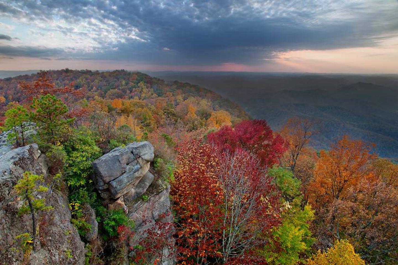 George Washington Jefferson National ForestHigh Rock Sundown