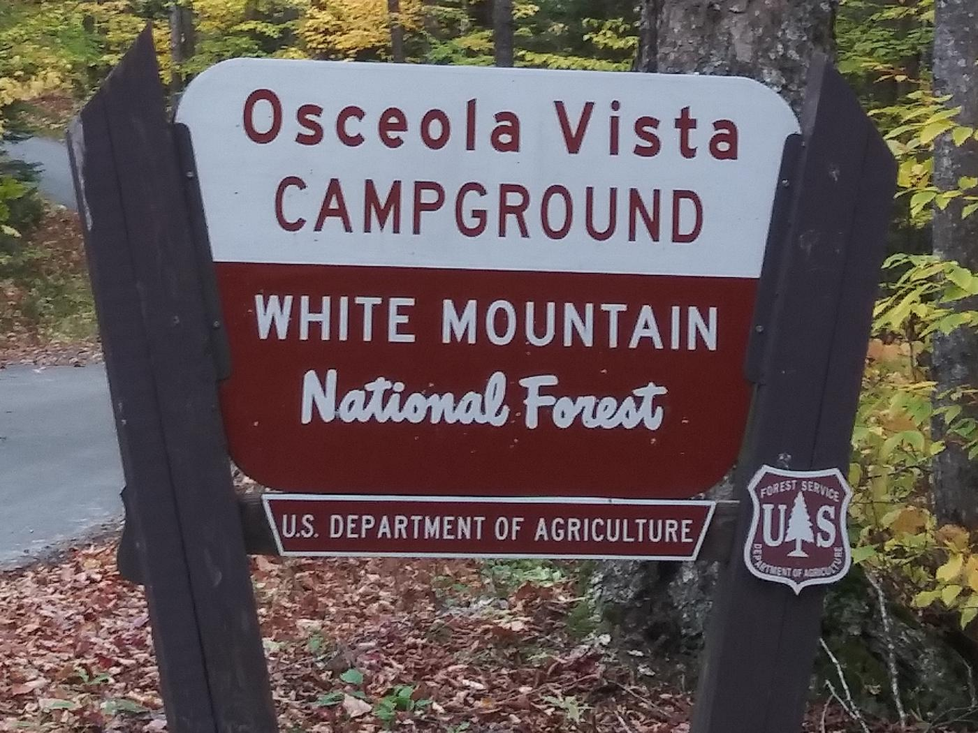 OV SignOsceola Vista Campground