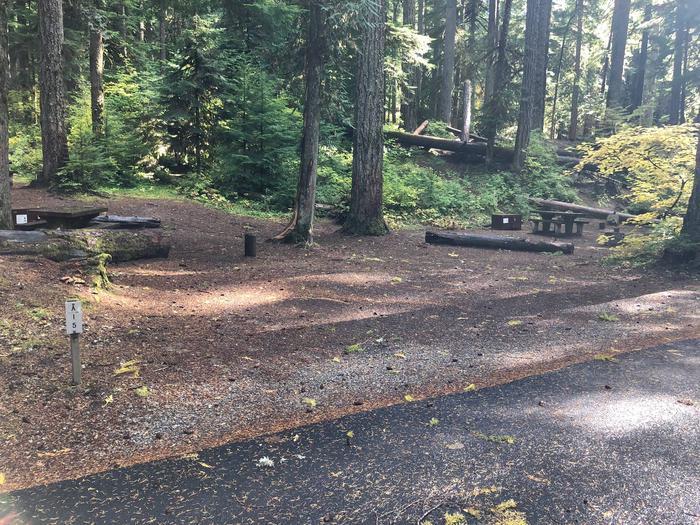 Ohanapecosh Campground - Site A015 Parking Area