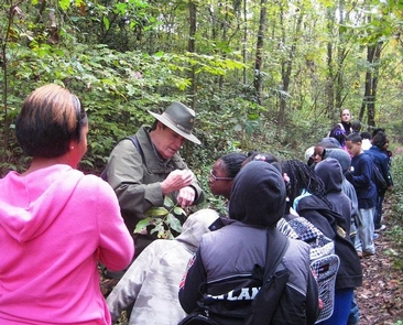 Look CloselySchool children from the city enjoy visiting the park on a ranger-led hike.