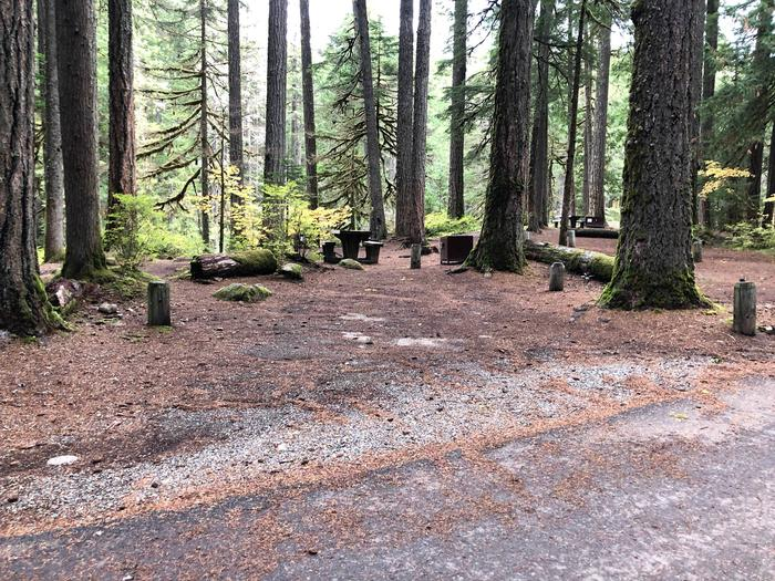 Ohanapecosh Campground - Site C007 Parking Area