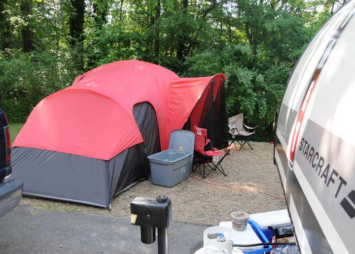 Campsite view.Victoria Campground, campsite 51.
