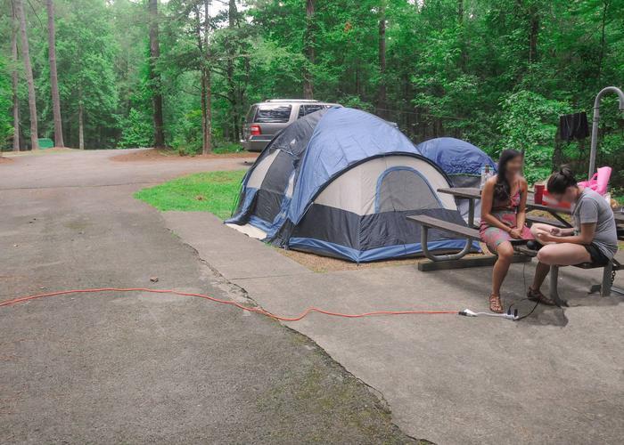 Campsite view.Victoria Campground, campsite 59.