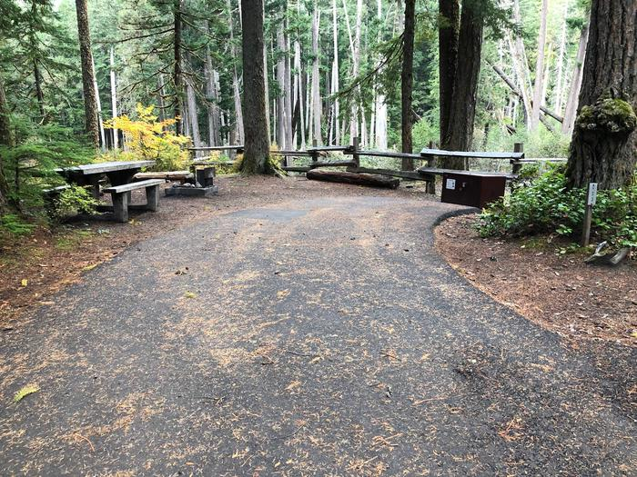Ohanapecosh Campground - Site C023 Parking Area
