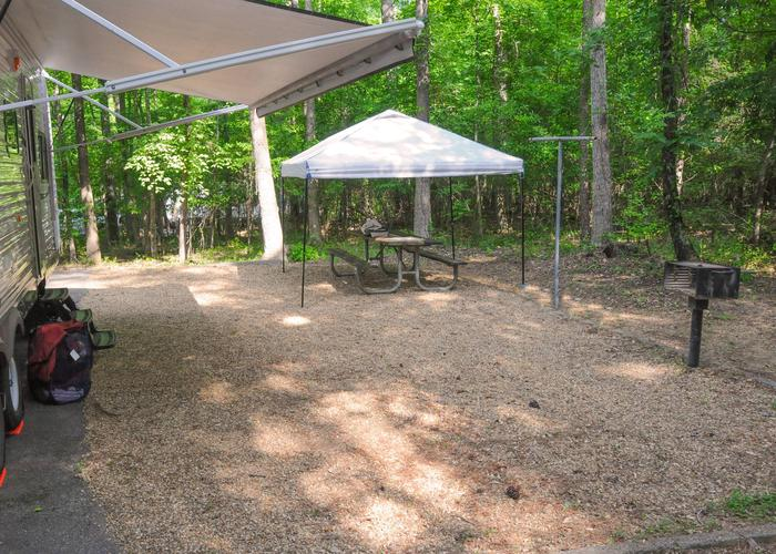 Campsite view.Victoria Campground, campsite 63.