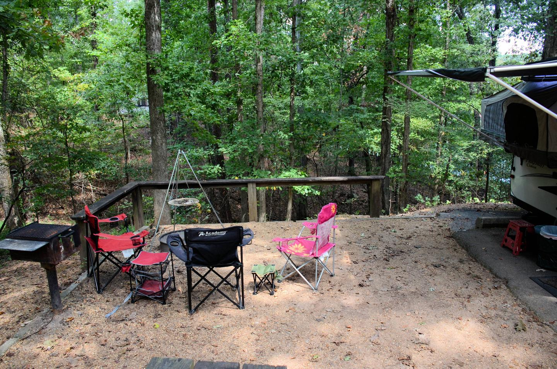 Campsite view.McKinney Campground, campsite 13.