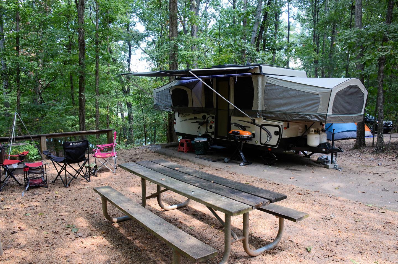 Campsite view-2.McKinney Campground, campsite 13.