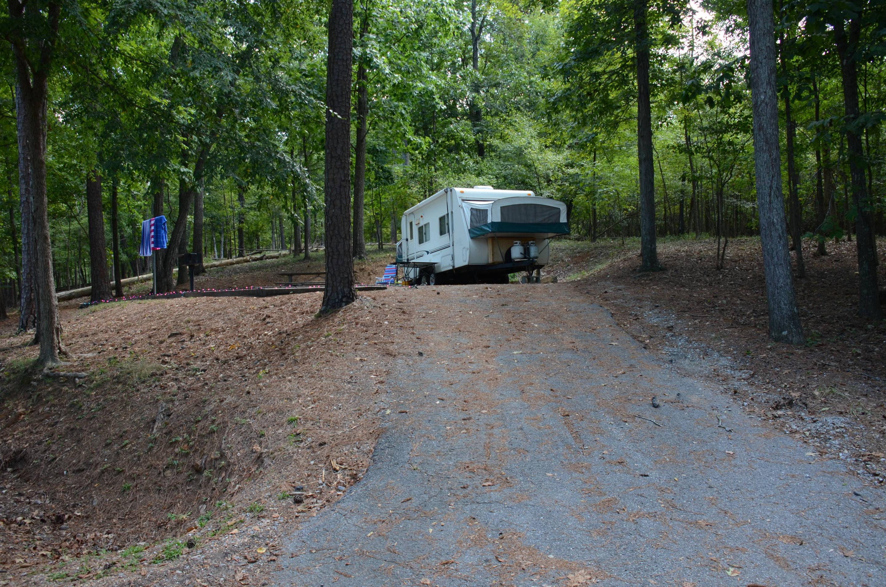 Awning-side clearance.McKinney Campground, campsite 29.