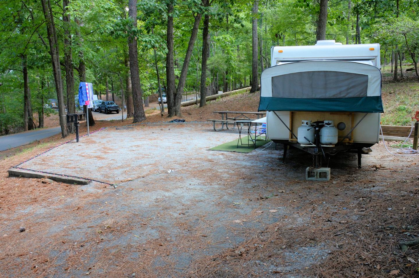 Utilities-side clearance.McKinney Campground, campsite 29.