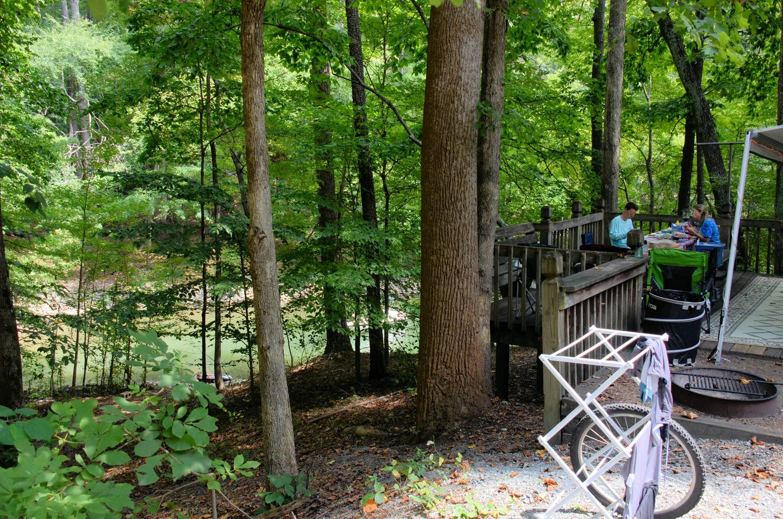 Campsite view-2.McKinney Campground, campsite 133.
