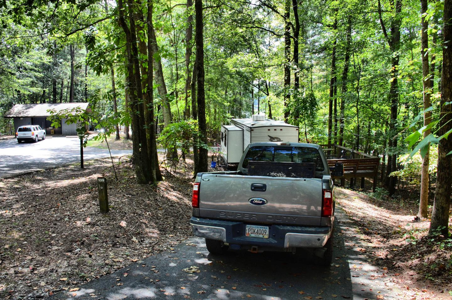 Driveway slope, awning-side clearance.McKinney Campground, campsite 139.