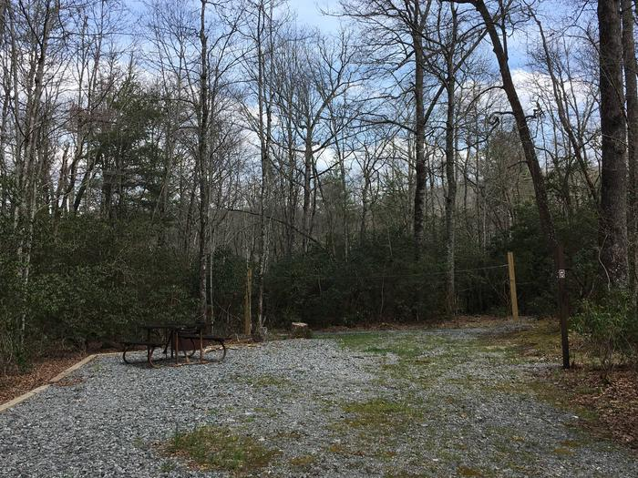 Site A8 - Single SiteSite A8 - Single Site featuring high line, picnic table, lantern pole, and grill.
