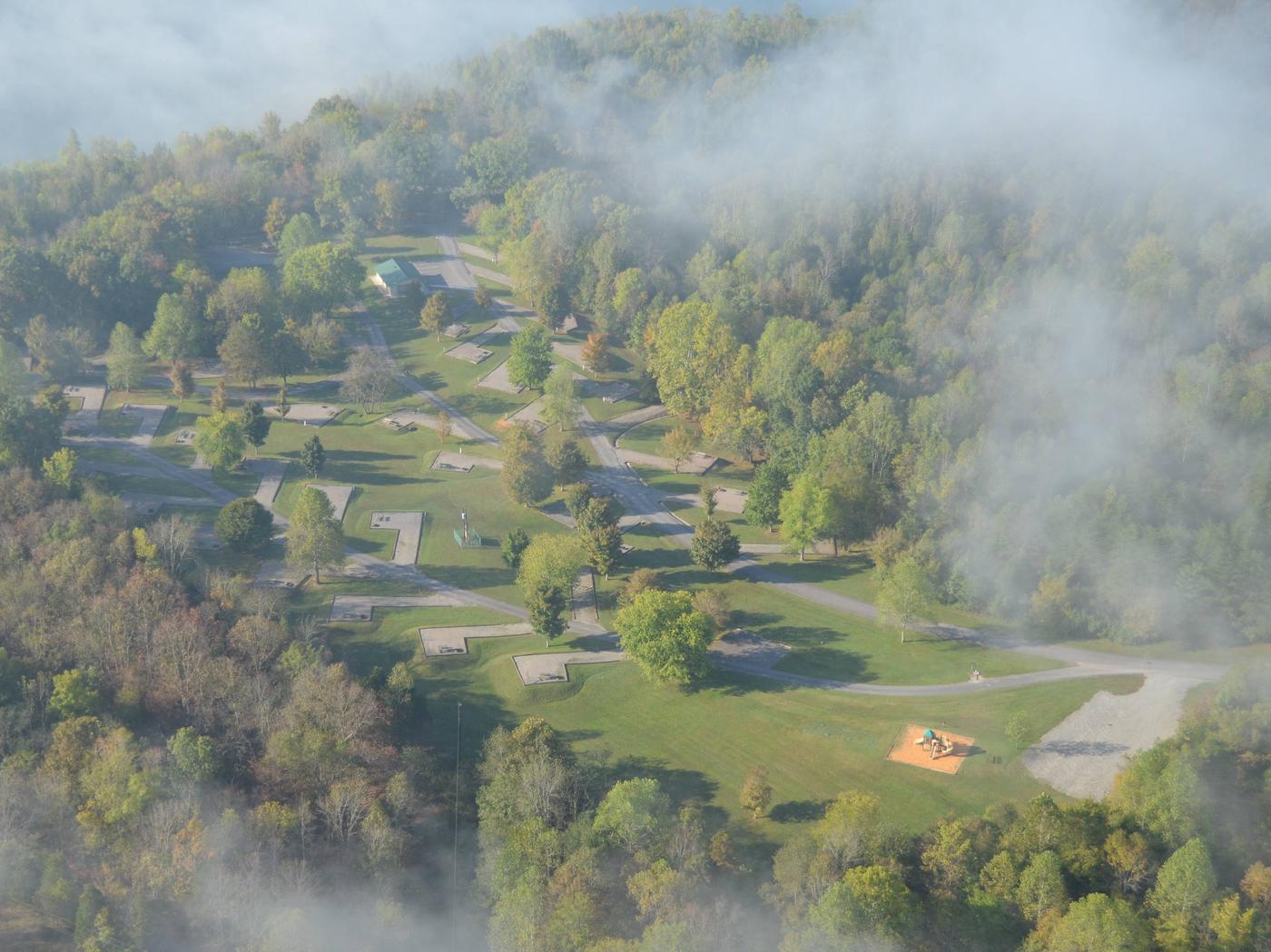 Smith Ridge CampgroundAerial view of Smith Ridge Campground B-Loop