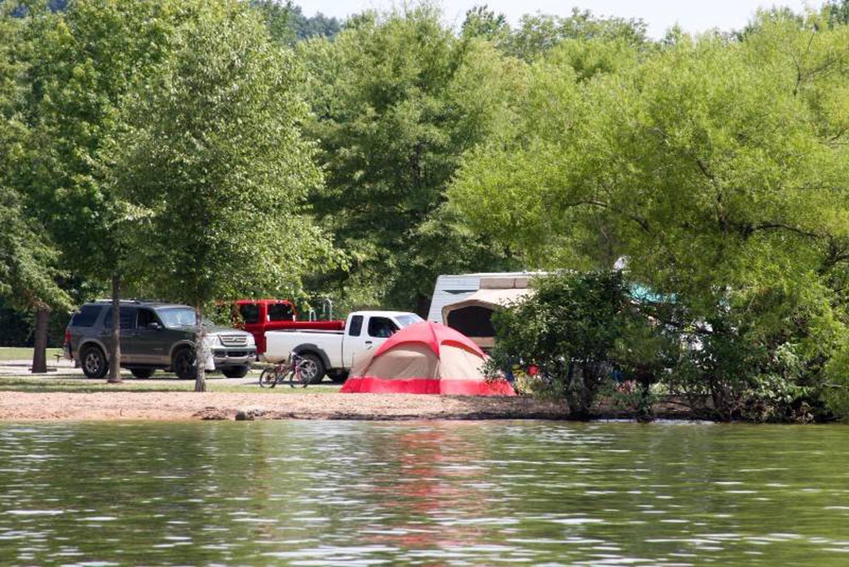 Pikes Ridge Primitive SIteThe campground also has many lakefront primitive campsites
