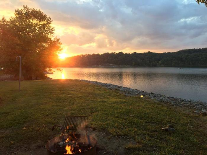 Pikes Ridge Campground SunsetBeautiful picture taken by a camper of the sunset over the lake.