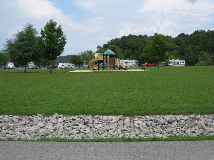 Pikes Ridge PlaygroundPlayground located in the center of the campground