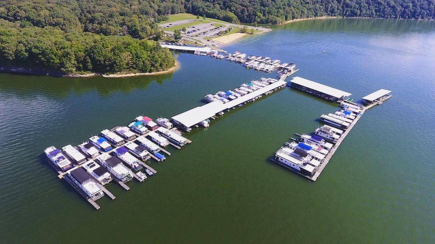 Holmes Bend MarinaAerial View of Holmes Bend Marina located about 1 mile from the campground