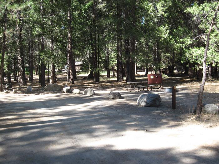 Food locker, picnic table, and fire ringSite 73