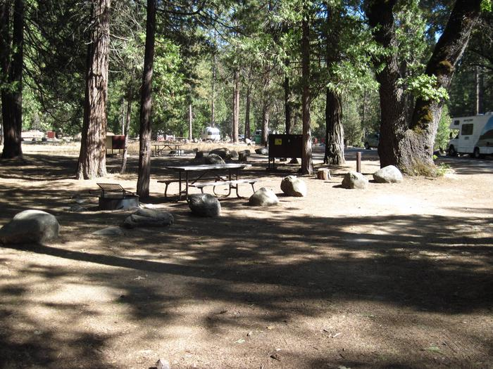 Food locker, picnic table, and fire ringSite 76