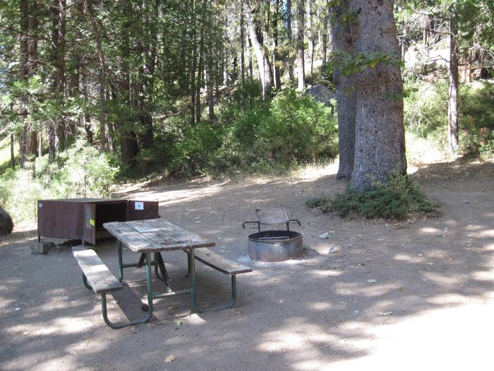 Food locker, Picnic table, and Fire RingSite 30